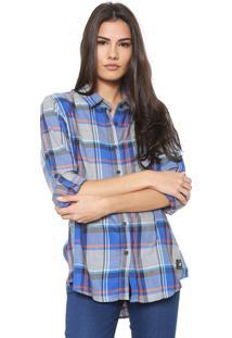 Camisa Ellus 2Nd Floor Xadrez Azul/Cinza
