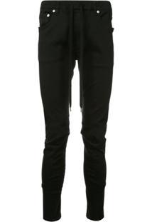 Attachment Drawstring-Waist Biker Trousers - Preto