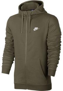 Blusa Moletom Casual Nike Hoodie Fz Ft Club