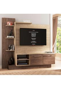 Estante Para Tv Com 7 Prateleiras Estar Decibal - Acácia/Freijó - Multistock