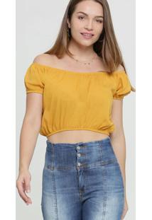 Blusa Feminina Cropped Ombro A Ombro