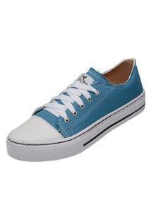 Tênis Sapatenis Casual Feminino Mr Try Shoes Azul Claro
