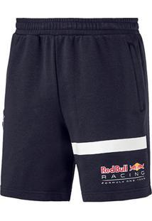 Bermuda Moletom Puma Red Bull Logo Sweat Masculina - Masculino