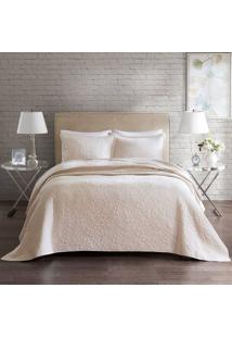Colcha Florence Home Design King Anita - Corttex - Marfim