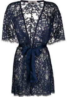 Gilda & Pearl Kimono Lana - Azul