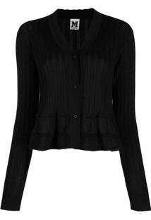 M Missoni Cropped Cardigan - Preto