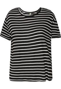 Camiseta Feminina Manga Curta Listras