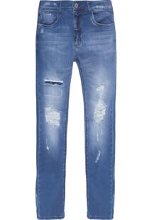 Calça Masculina Super Skinny Kingston - Azul