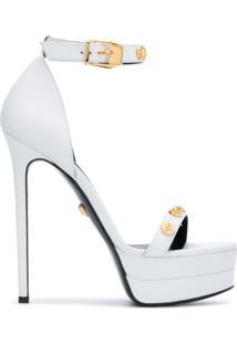 Versace Sandália Com Tachas - Branco
