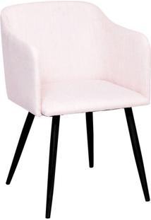 Poltrona Charlote- Bege & Preta- 78,5X72X51,5Cm-Or Design