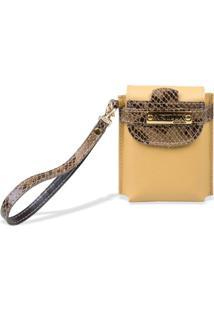 Bolsa Cigarreira Feminina Artlux - Feminino-Amarelo