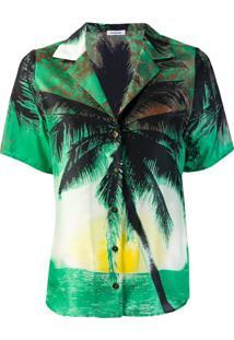 P.A.R.O.S.H. Blusa Com Estampa Tropical - Verde