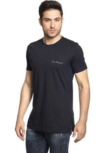 Camiseta Tony Menswear Lisa Long Line Preto