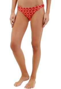 Calcinha Rosa Chá Lena Fancy Stars Beachwear Estampado Feminina (Fancy Stars, Pp)