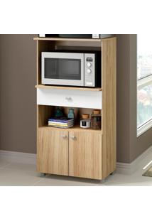 Armário De Cozinha Multiuso 2 Portas 1 Gaveta 4060G.858 Argila - Multimóveis