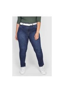 Calça Jeans Lança Perfume Skinny Estonada Azul