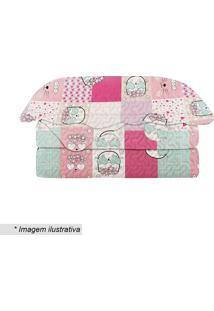 Conjunto De Colcha Evoluition Patchwork Kitty Solteiro- Camesa