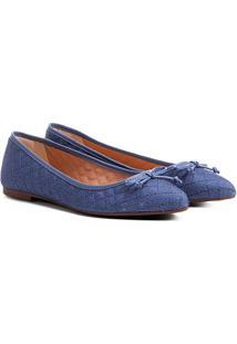 Sapatilha Shoestock Bico Fino Matelassê Feminina - Feminino-Marinho