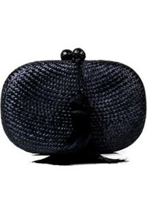 Clutch Palha Oval Serpui Marie