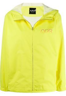 A.P.C. Jaqueta Corta-Vento Em Degradê Com Logo - Amarelo