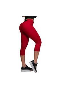 Calça Capri Vermelha Pit Bull Jeans 37532 Pitbull Feminina