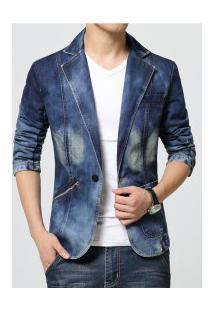 Blazer Jeans Masculino Bamberg - Azul