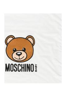 Moschino Kids Cobertor Com Ursinho - Branco