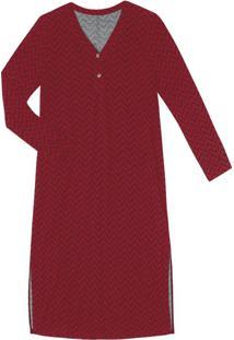 Vestido Midi Manga Longa Rovitex Vermelho