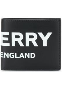 Burberry Carteira Com Estampa Logo - Preto
