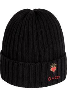 ... Gucci Gorro De Lã Com Coração Perfurado - Preto 5a2012334c3