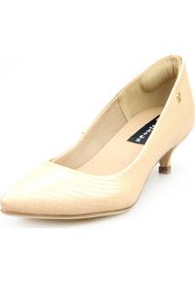 Scarpin Baixo Love Shoes Social Confort Básico Bege - Tricae