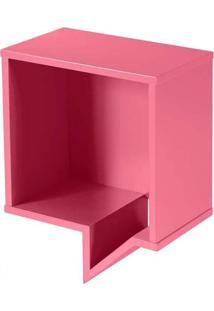 Prateleira Cartoon Quadrada Rosa Laca M121