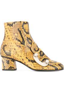Proenza Schouler Ankle Boot De Couro - Amarelo
