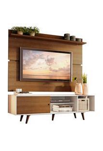 Rack Madesa Dubai E Painel Para Tv Até 65 Polegadas Com Pés Branco/Rustic 9B5Z Branco