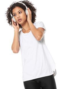 Camiseta Alto Giro Alongada Branca