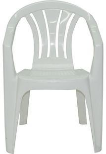 Cadeira Bertioga Com Braã§Os- Branca- 78,5X56X58Cm