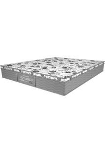 Colchão Casal Molas Bonnell Recanto Firme Gray (26X138X188) Branco E Florais Cinza