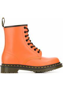 Dr. Martens Ankle Boot 1460 Com Cadarço E Salto 40Mm - Laranja