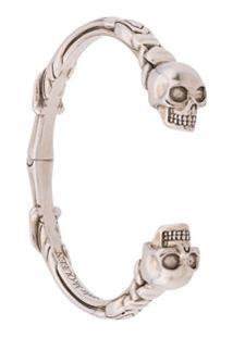 Alexander Mcqueen Bracelete Com Caveira - Metálico