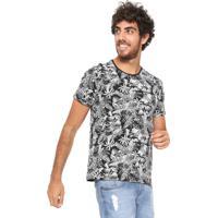 fe764e7baa Camiseta Hering Folhagens Preta