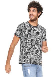 Camiseta Hering Folhagens Preta