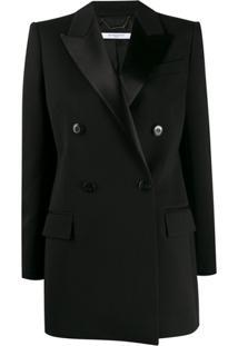 Givenchy Blazer Com Lapelas De Cetim E Abotoamento Duplo - Preto
