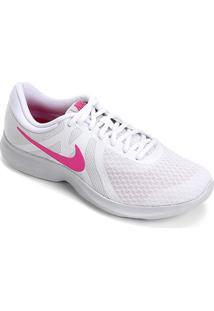 Tênis Nike Revolution 4 Feminino - Feminino-Branco+Rosa