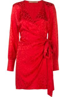 Andamane Vestido Envelope Animal Print - Vermelho