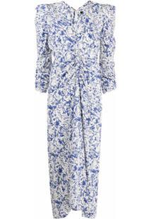 Isabel Marant Vestido Maray Com Estampa Abstrata - Azul