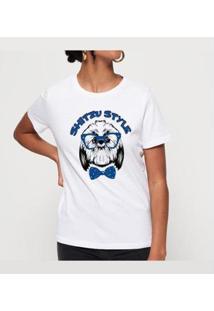 T-Shirt Shitzu Style Buddies Feminina - Feminino-Branco