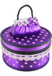 Porta Jóias Modelo Bolsa Jacki Design Segredo Meigo Roxo