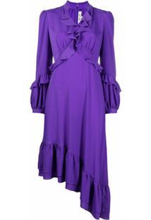 Dvf Diane Von Furstenberg Vestido Midi Jill - Roxo