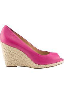 Anabela Delotto Peep Toe Floater Pink