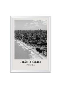 Quadro Oppen House 65X45Cm Cidades Joáo Pessoa Brasil Moldura Natural Sem Vidro - Oppen House Decora